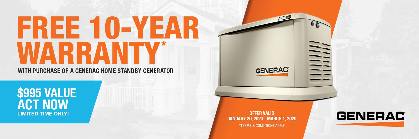 Homestandby Generator Deal | Warranty Offer | Generac Dealer | LOUISVILLE, KY